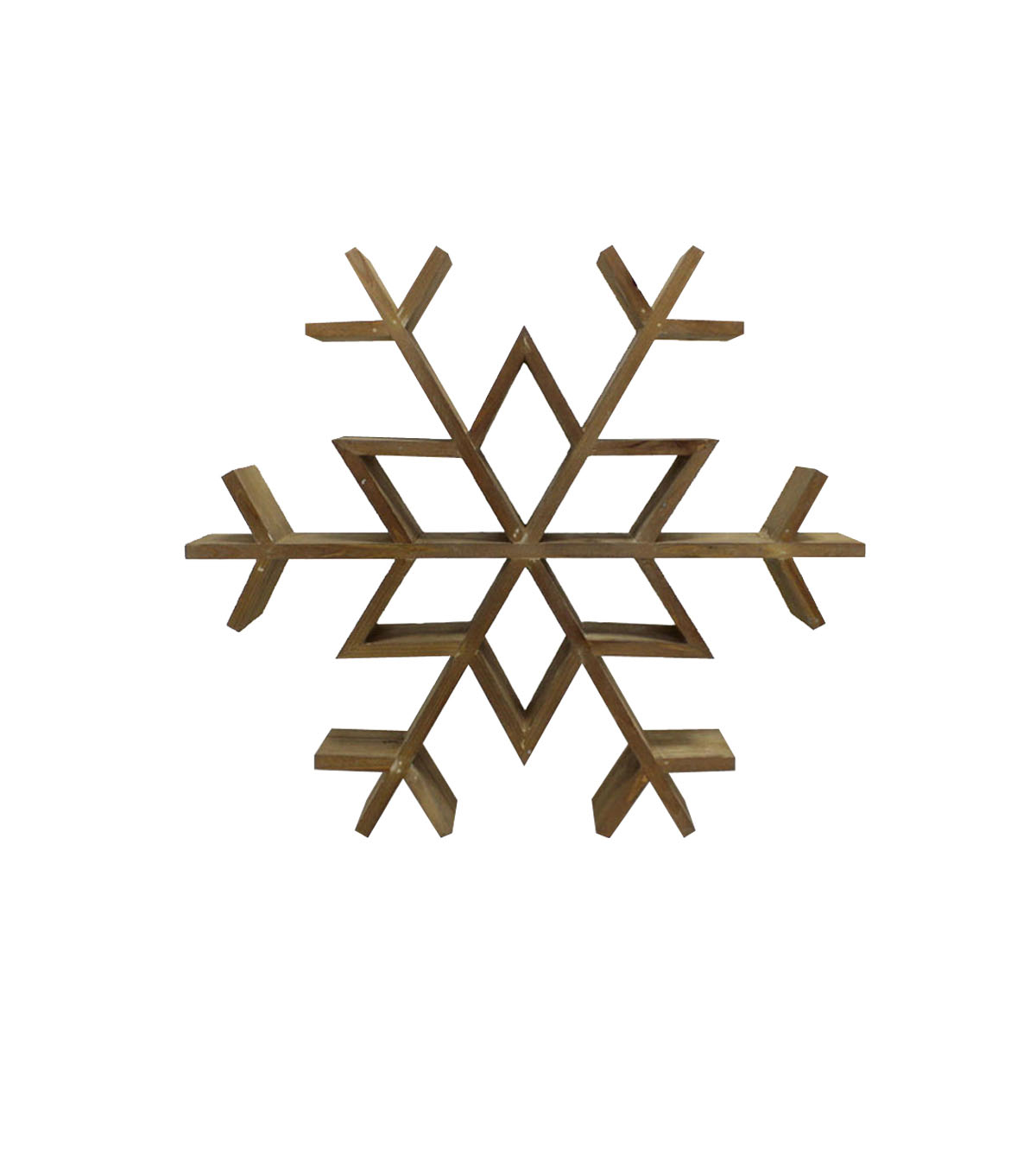 Handmade Holiday Christmas Wood Snowflake Wall Decor