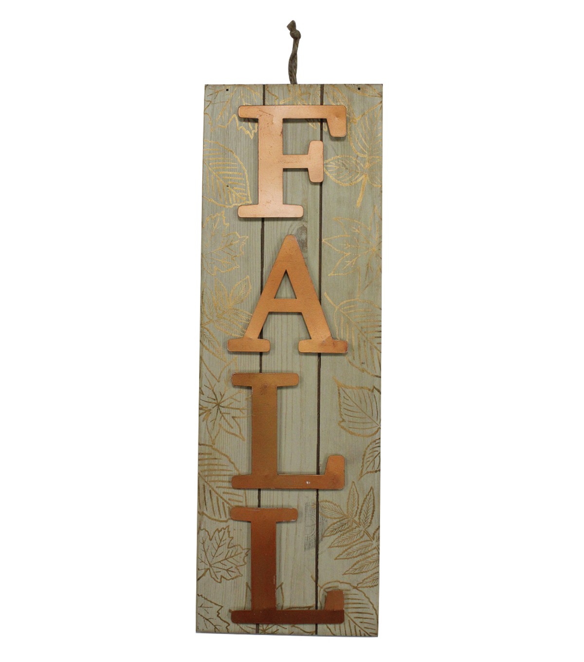 Simply Autumn Vertical Fall Wall Decor-Copper