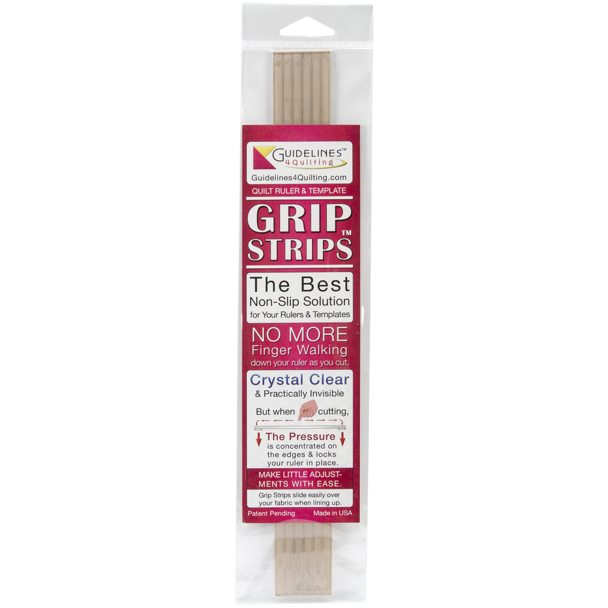 Crystal Clear Grip Strips 6/Pkg-1/4\u0022X11-3/4\u0022