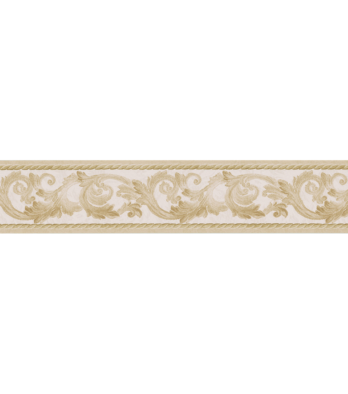 Scroll Rope  Wallpaper Border, Gold Sample