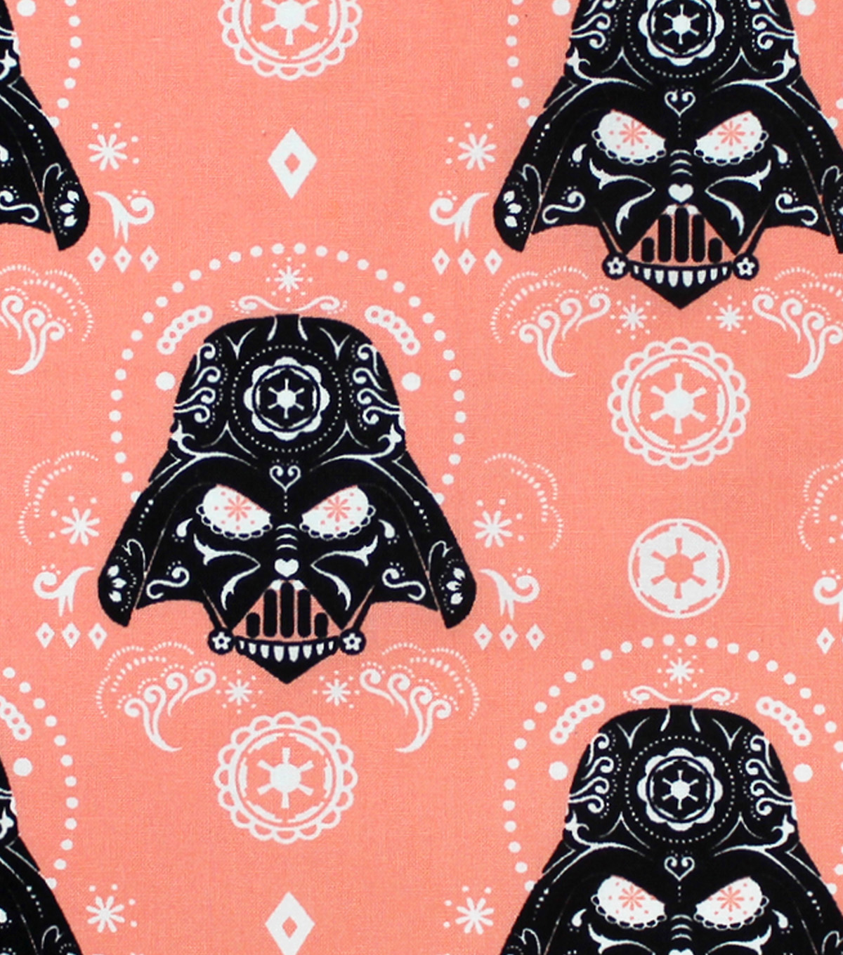 Star Wars Darth Vader Cotton Fabric -Sugar Skulls