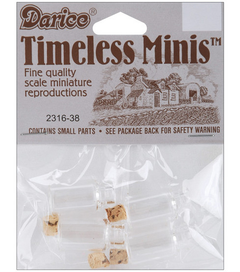 Darice Timeless Miniatures Spice Bottles With Plug
