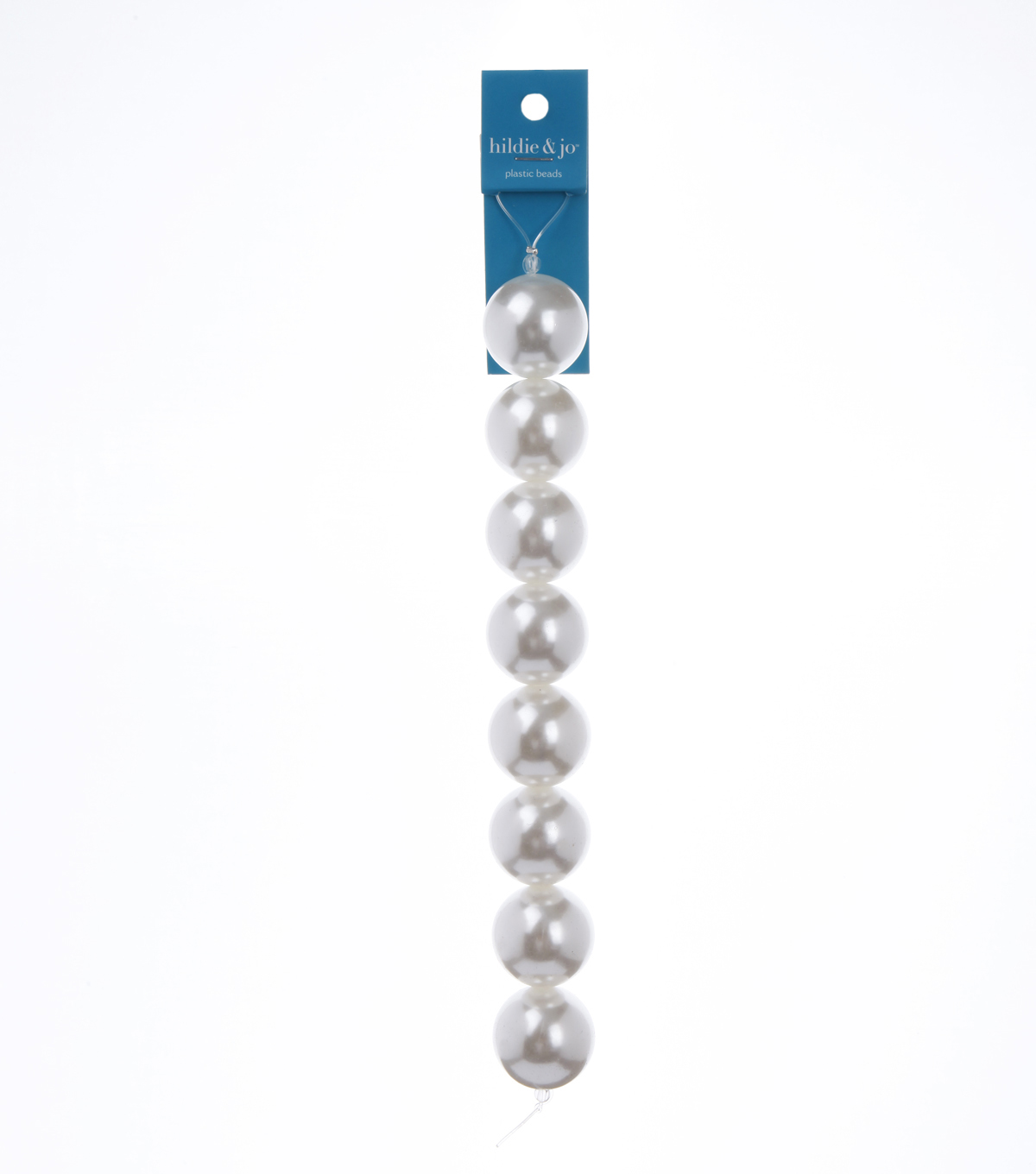 7\u0022 Strand Pearl AB Beads, 25mm White