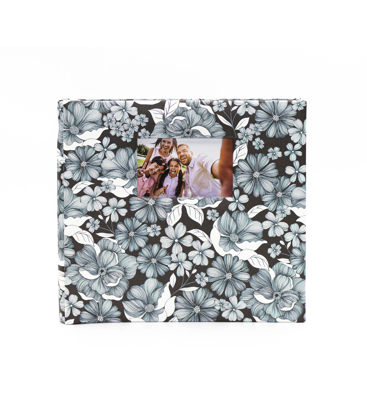 Park Lane Scrapbook 12\u0022x12\u0022-Black & White Floral