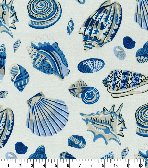 Waverly Sun N Shade Fabric 9\u0022x9\u0022 Swatch-Low Tide Atlantic