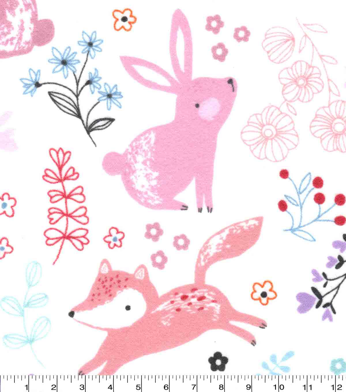 Nursery Flannel Fabric-Bear And Friends