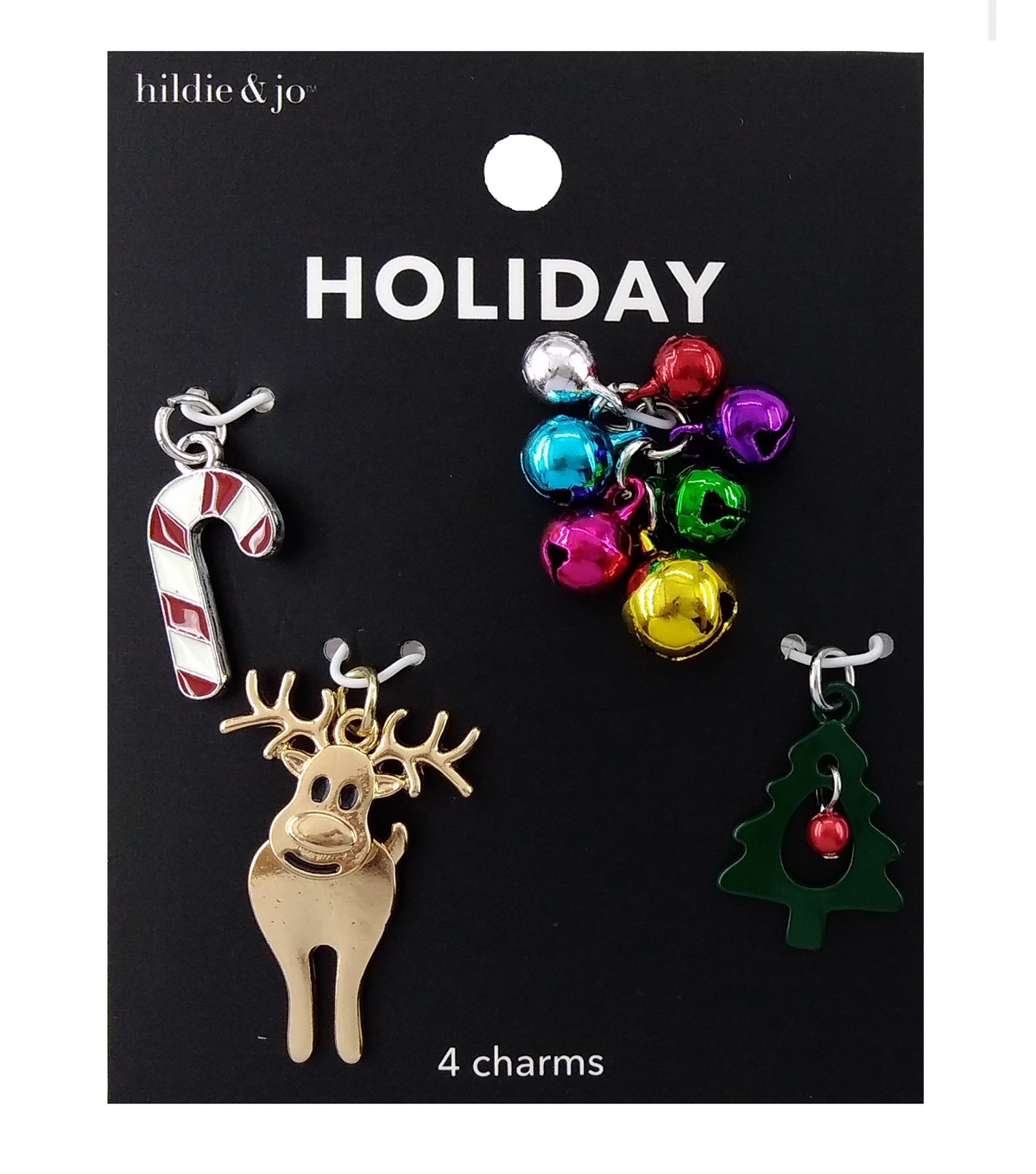 hildie & jo Holiday Charms-Multi Color Bells & Trees