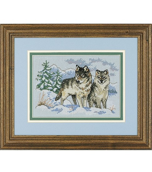 Bucilla Mini Counted Cross Stitch Kit A Pair of Wolves