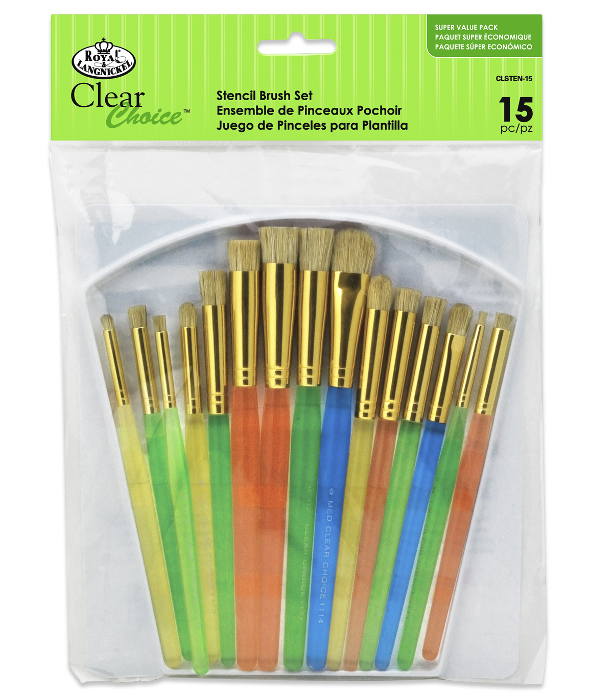 Royal & Langnickel Variety Stencil Brush Set 15pk