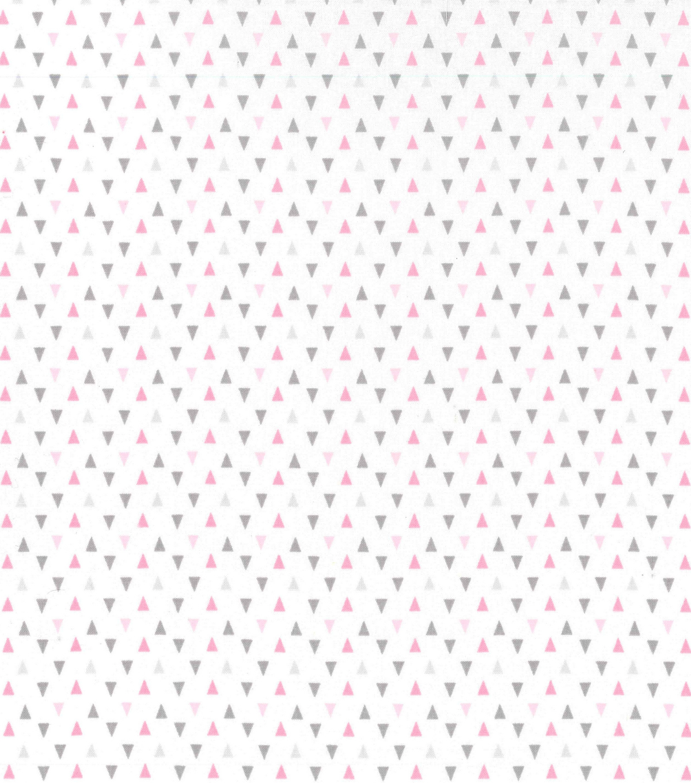 nursery cotton fabric 43 gray pink triangles joann