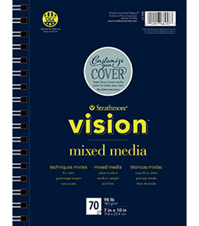 Strathmore 7\u0022x10\u0022 Vision Mixed Media Pad