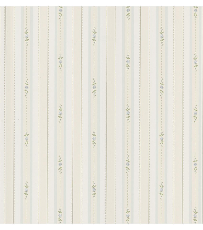 Rosebud Light Blue Floral Stripe Wallpaper Joann