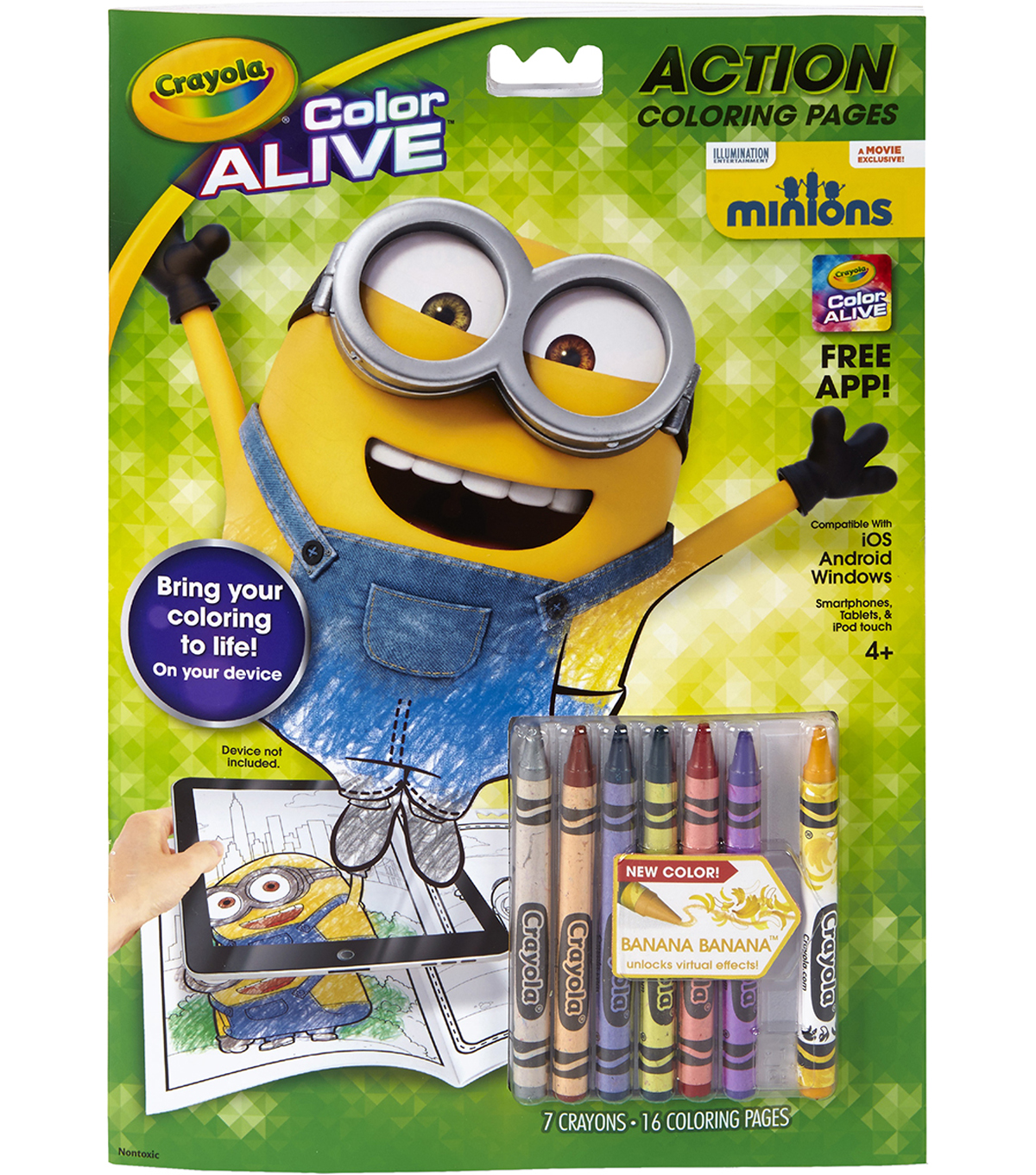 Crayola Color Alive Action Coloring Pages-Minions   JOANN