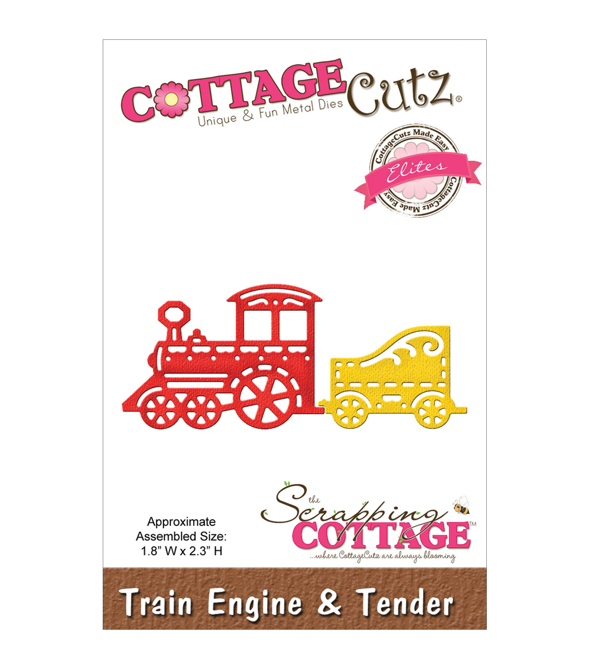 CottageCutz Elites Die 1.8\u0022X2.3\u0022-Train Engine&Tender