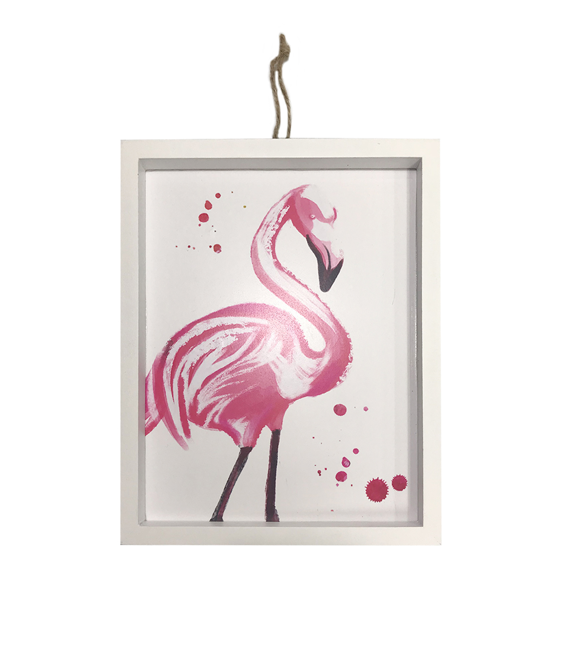 Hello Summer Wall Decor-Watercolor Flamingo