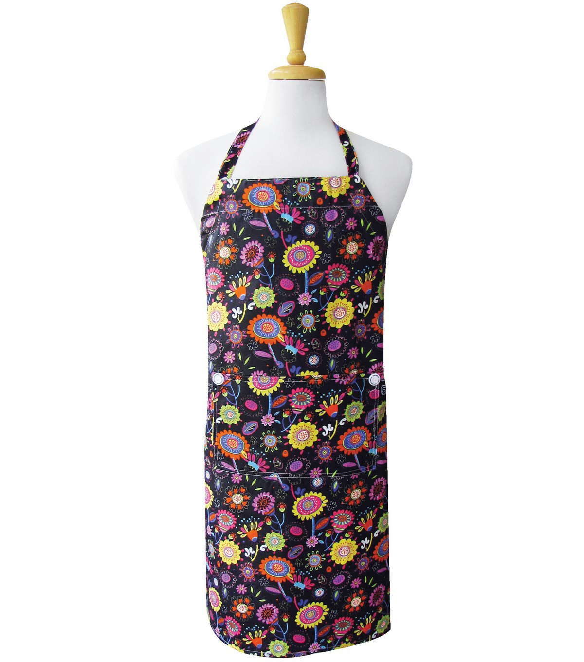 Two Lumps Of Sugar Adult Chef Apron-Bright Poppies