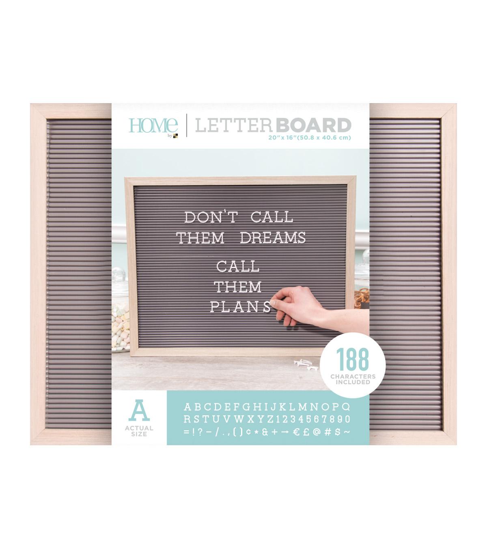 Dcwv Home 20 X16 Oak Gray Letter Board With 1 White Letters Joann