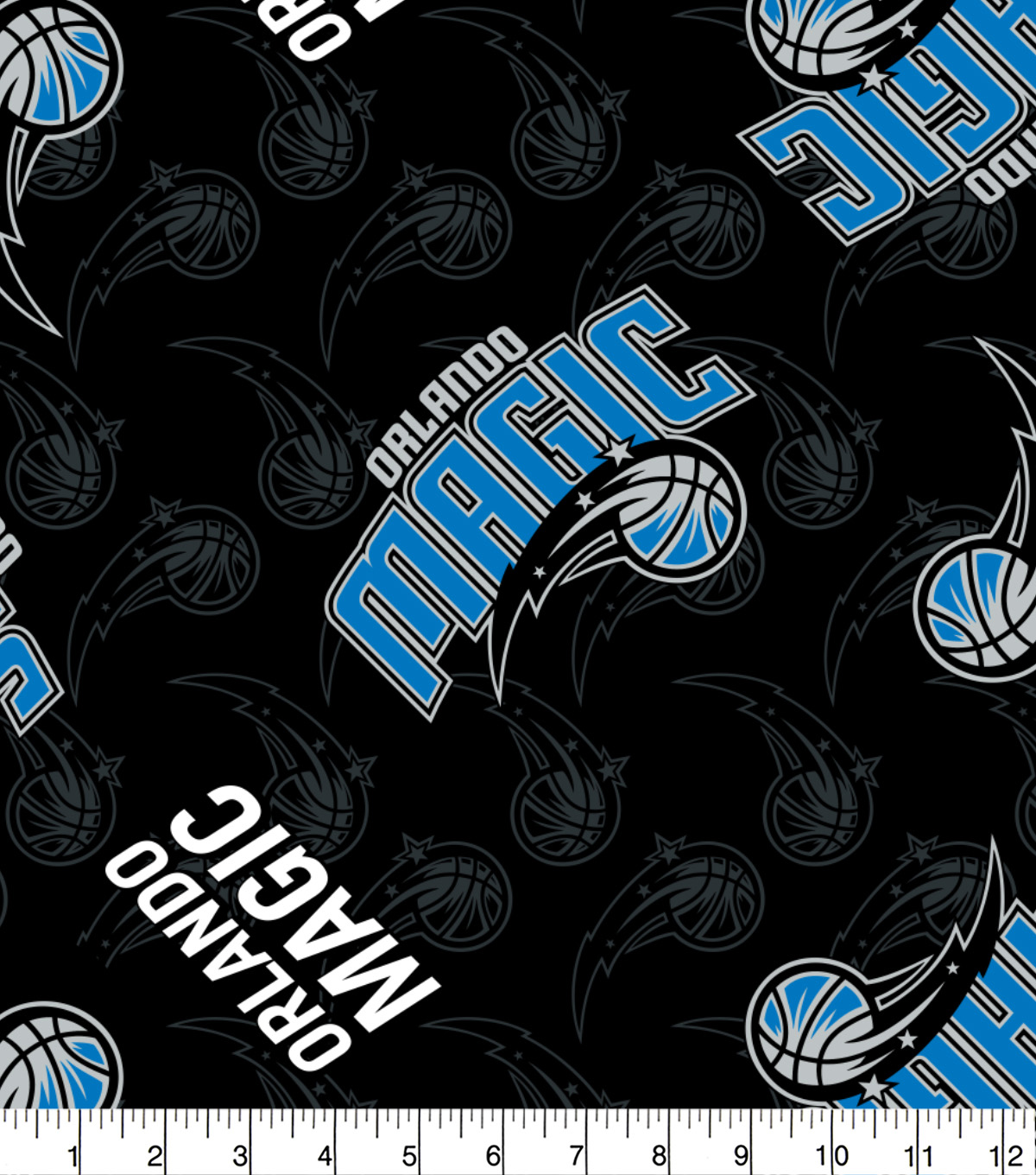 Orlando Magic Fleece Fabric 58\u0022-Logo Toss
