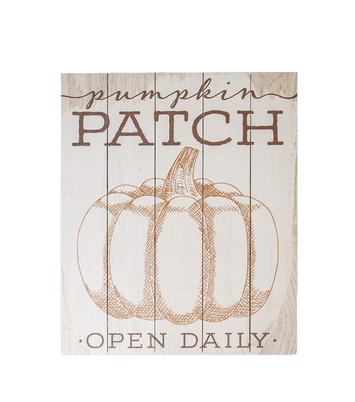 Simply Autumn Wood Wall Decor-Pumpkin Patch on Beige