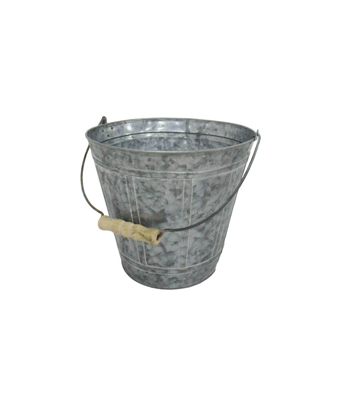Fresh Picked Spring 6\u0027\u0027 Galvanized Bucket with Wood Handle