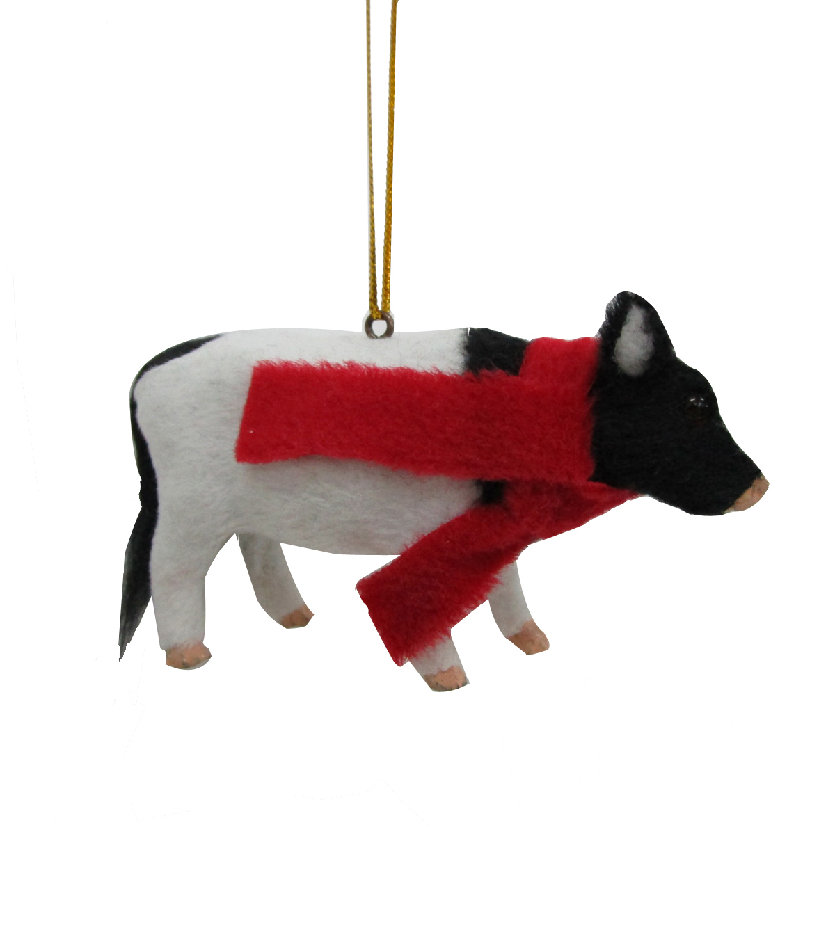 Maker\u0027s Holiday Christmas Furry Baby Cow Ornament