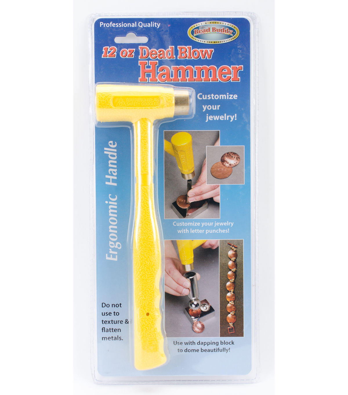 The Bead Buddy 12 oz. Dead Blow Hammer with Ergonomic Handle