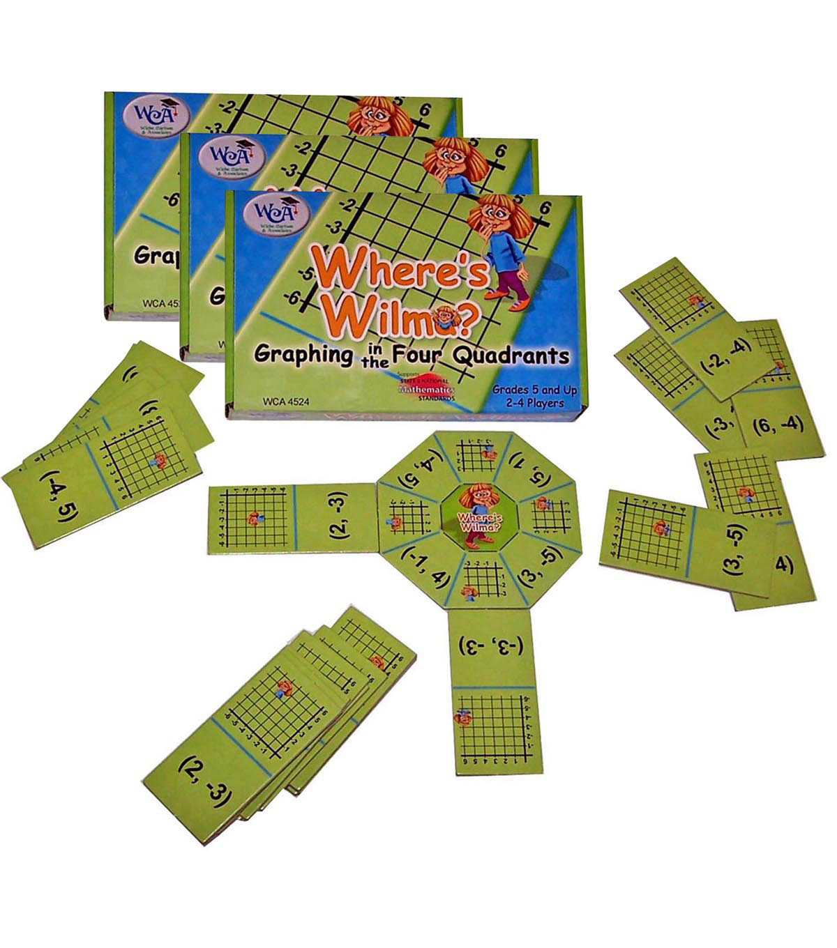 Where\u0027s Wilma Game, Graphing in the Four Quadrants, Pack of 3
