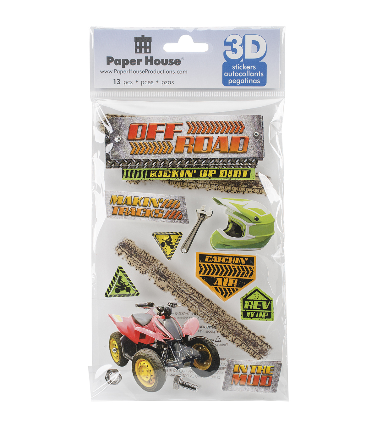 Paper House 3D Stickers-Off Road