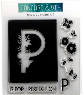 Concord & 9th Clear Stamp Set-Monogram P