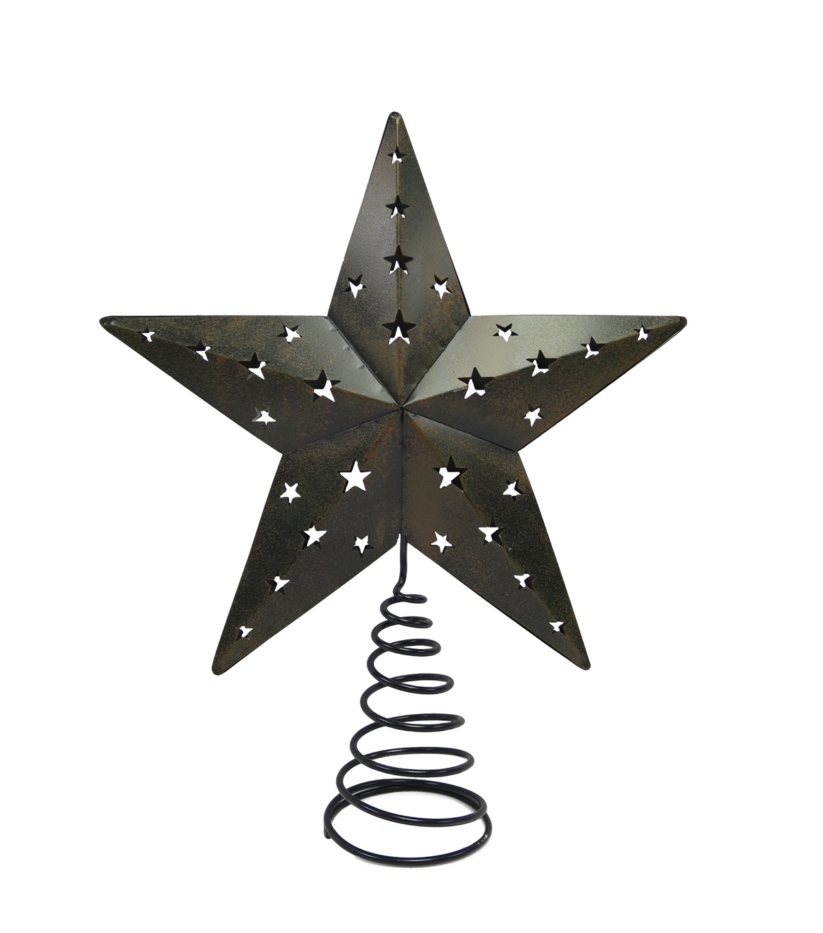 Maker\u0027s Holiday Tree Topper-Woodland Rusted Metal Star