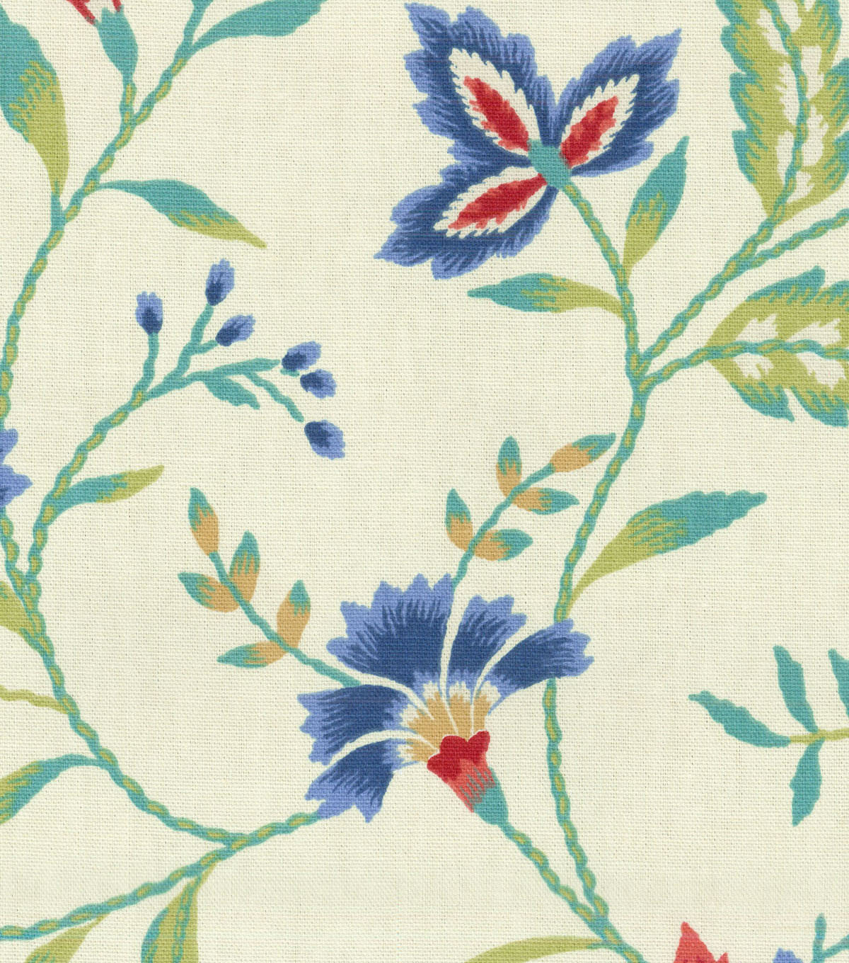 Waverly Upholstery Fabric 8x8\u0022 Swatch-Carolina Crewel Bluebell