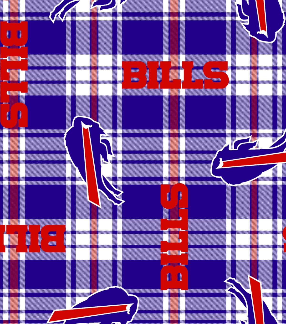 41a6ad4b Buffalo Bills Fleece Fabric -Plaid