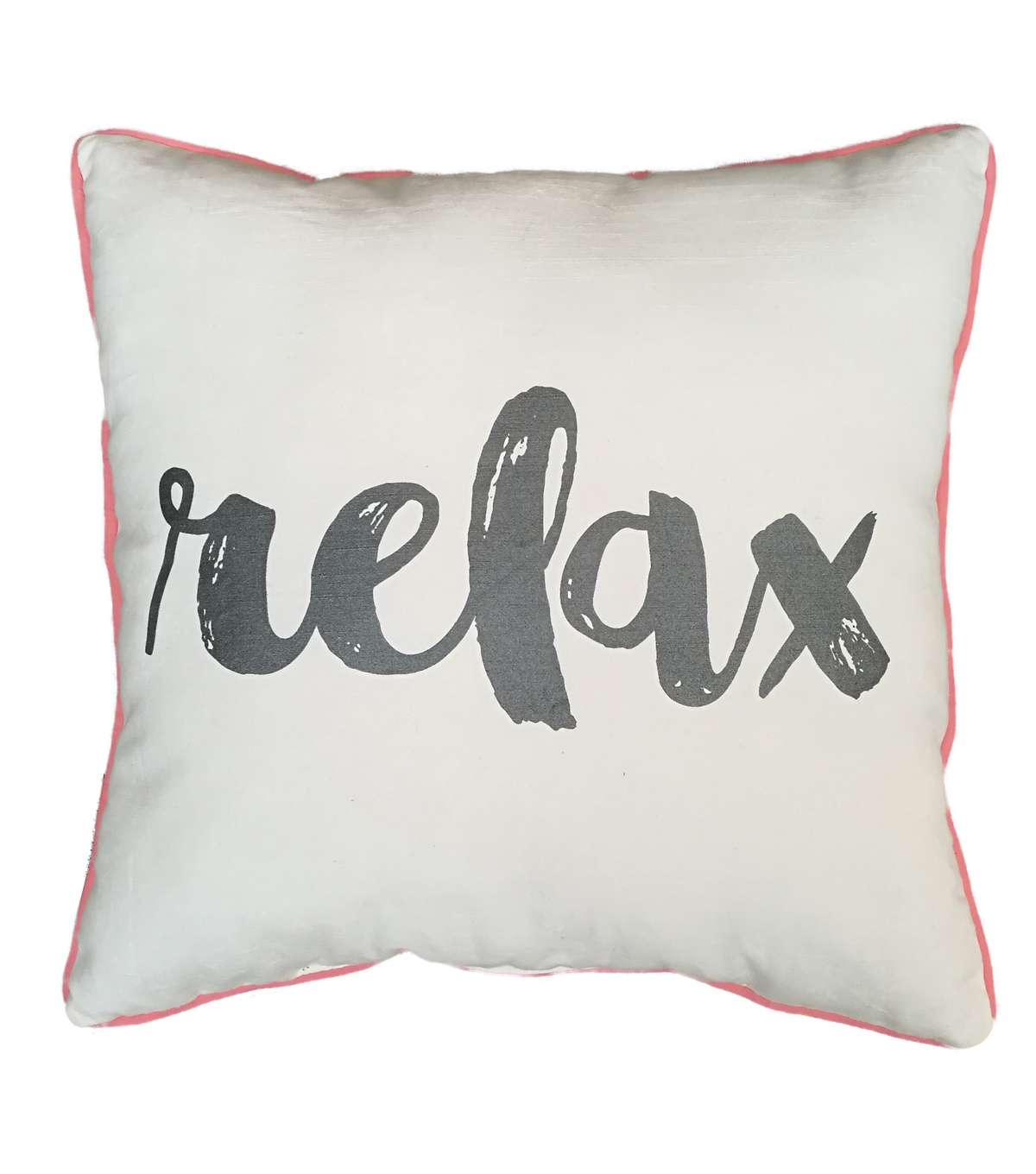 Printed Cotton Slub Pillow 17\u0027\u0027x16\u0027\u0027-Relax