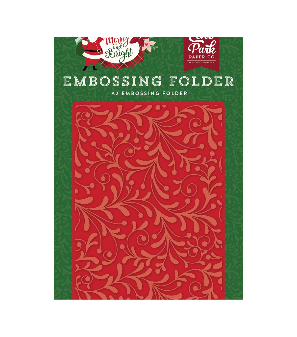 Echo Park Embossing Folder A2-Holiday Flourish