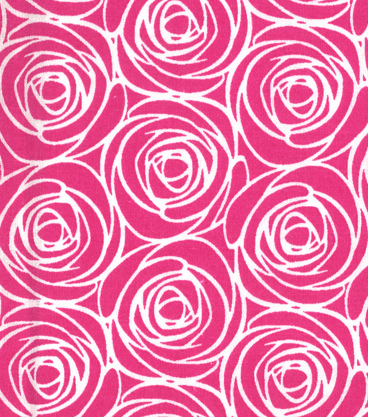 Quilter\u0027s Showcase Cotton Fabric 44\u0027\u0027-Floral Outline on Pink