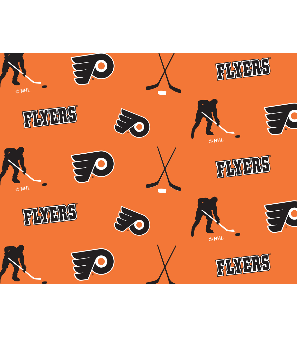 Philadelphia Flyers Fleece Fabric 60\u0022-Tossed
