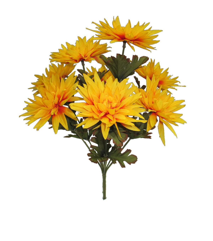 Blooming Autumn 16 Mum Bush Yellow Joann