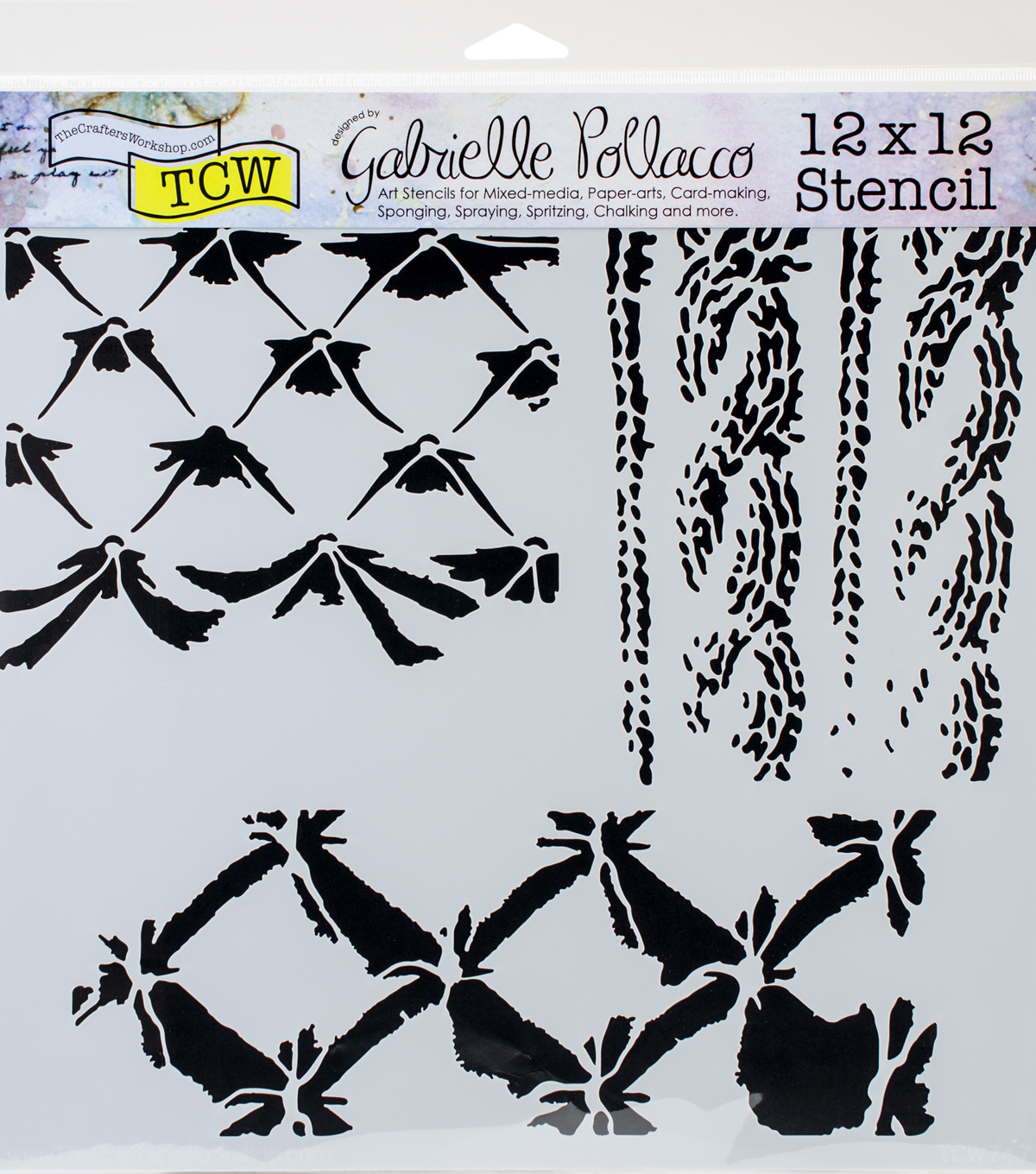 Crafter\u0027s Workshop Gabrielle Pollacco Template 12\u0027\u0027x12\u0027\u0027-Tufted