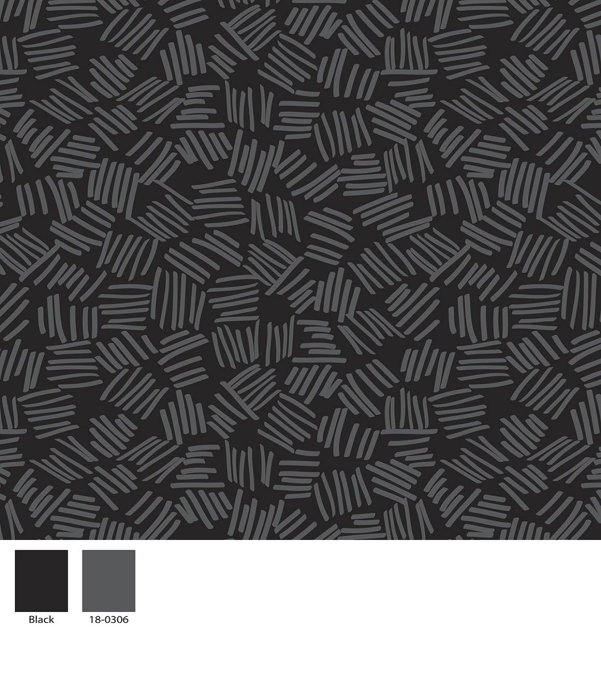 Keepsake Calico Cotton Fabric -Black Lines