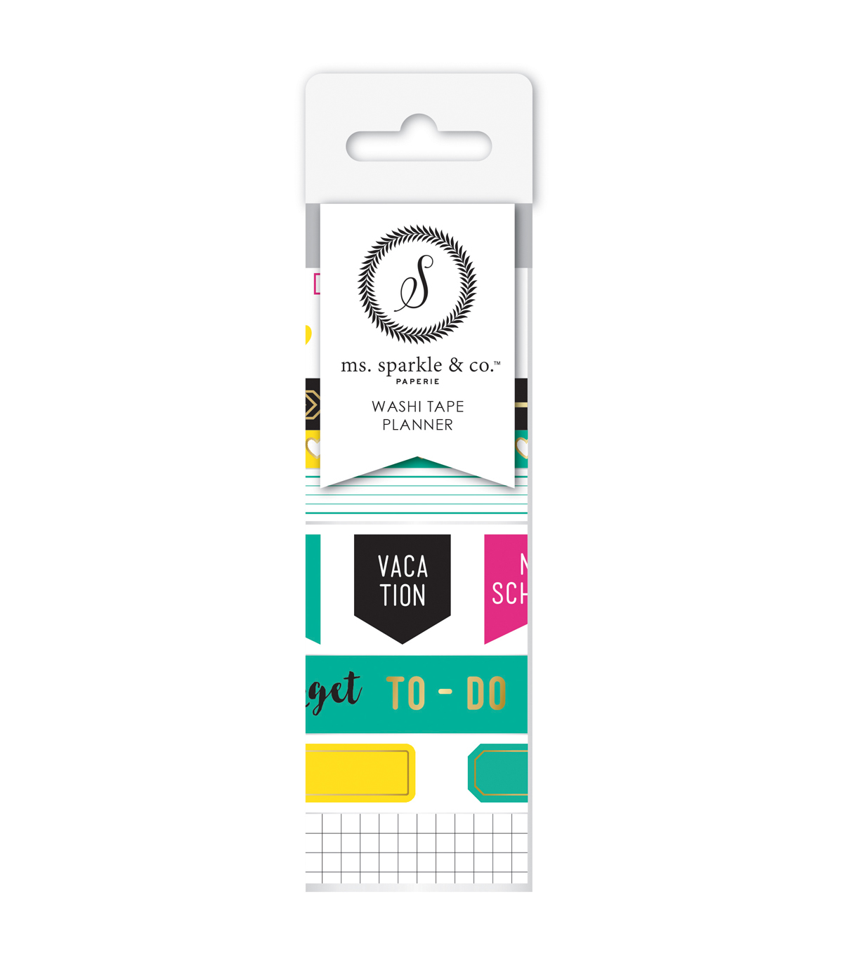 Ms. Sparkle & Co. 9 pk Washi Tapes-Planner