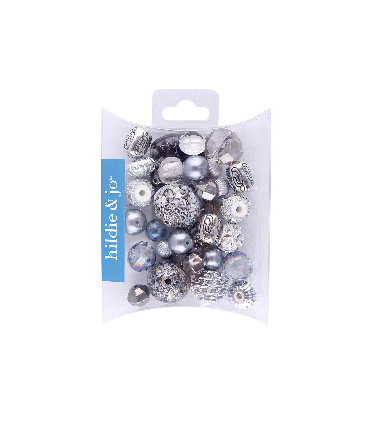 hildie & jo Mix Beads-Silver & White