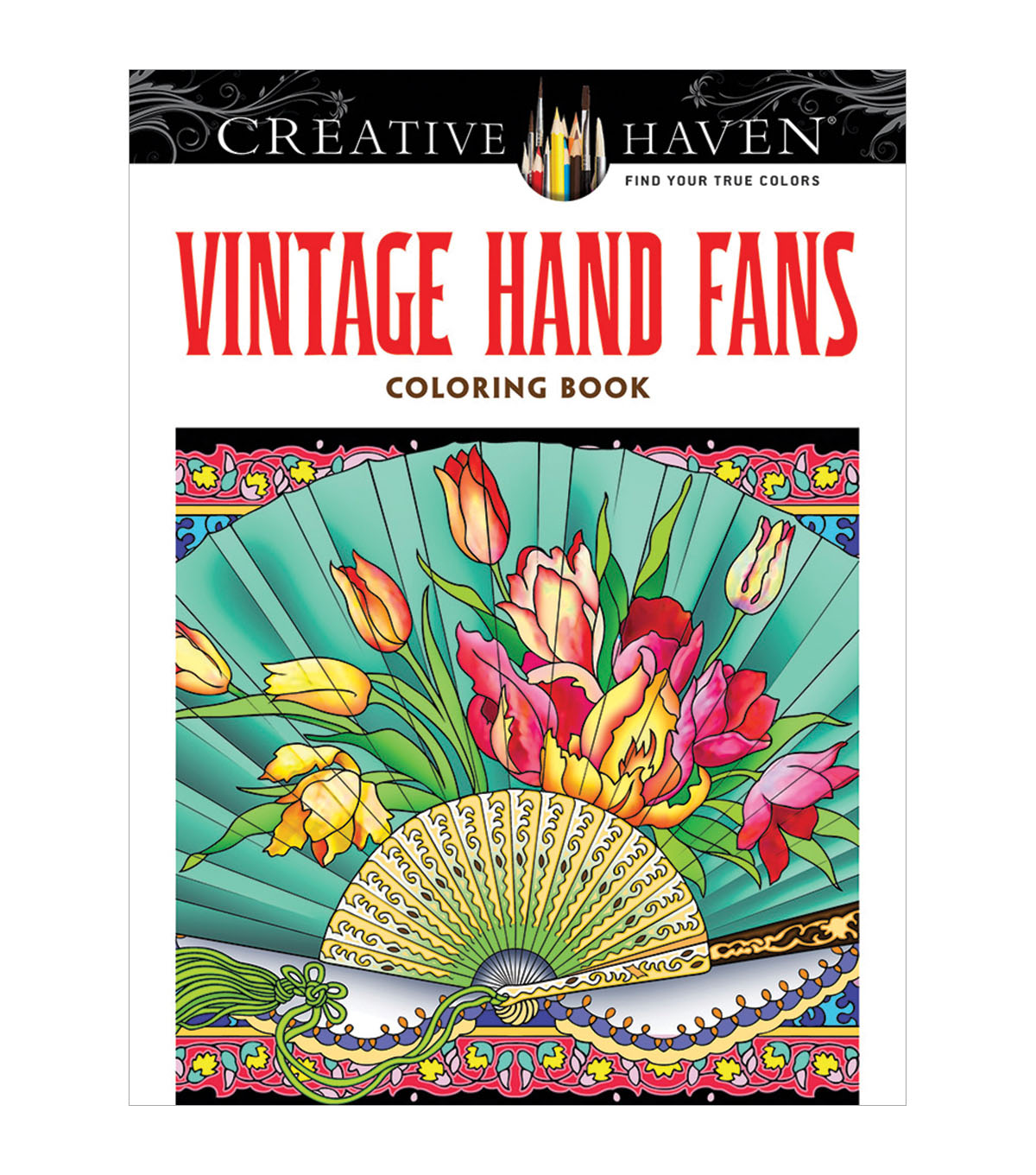 Dover Creative Haven Vintage Hand Fans Coloring Book