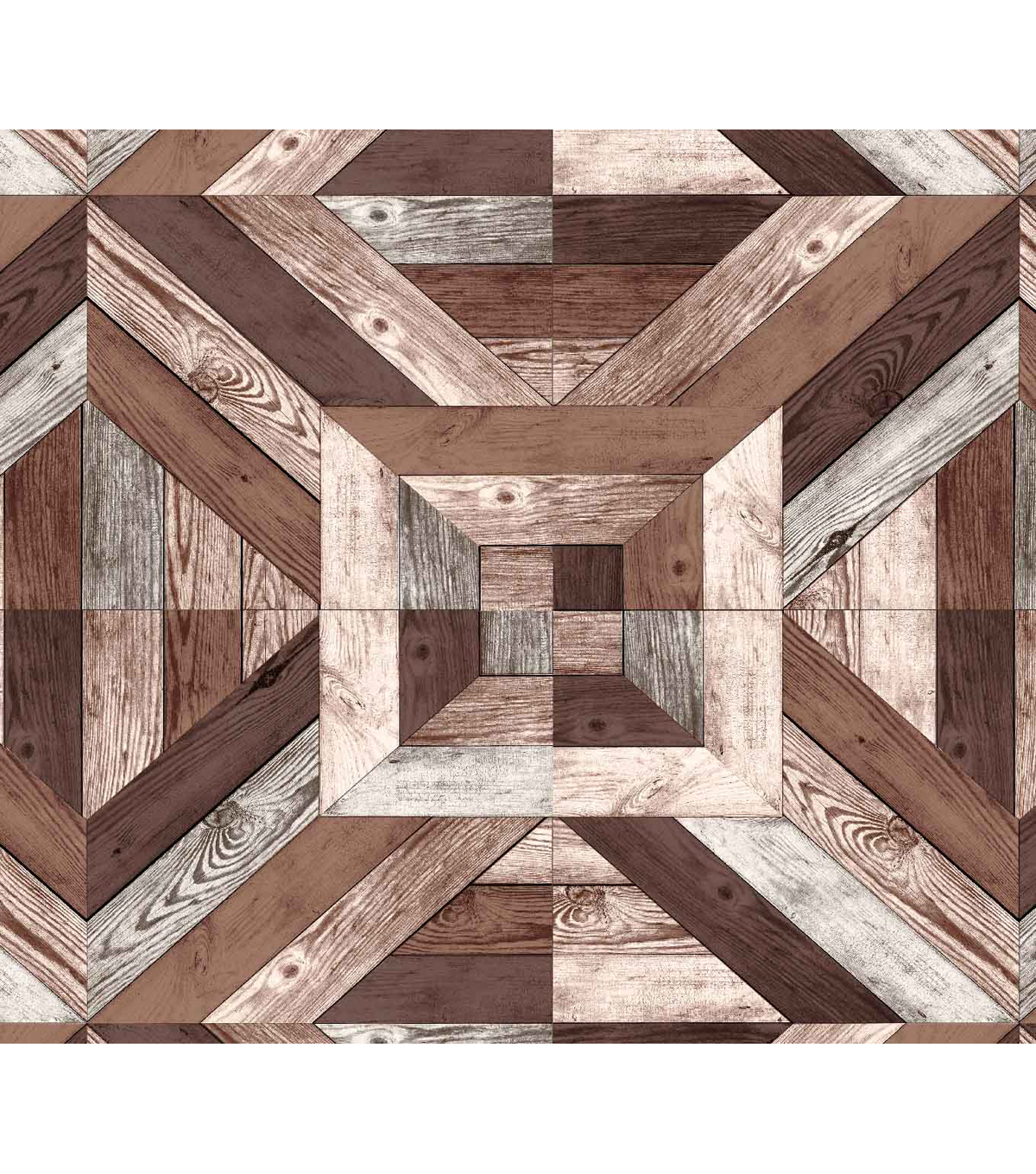 Novelty Cotton Fabric-Wood Grain Pattern