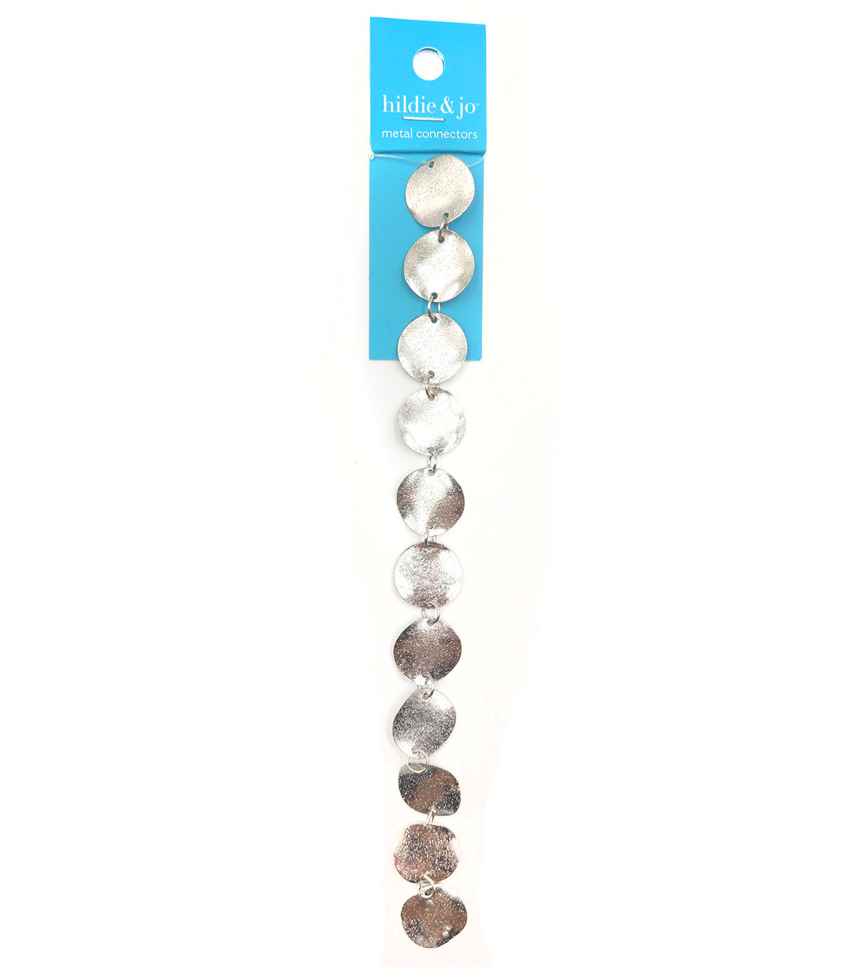 hildie & jo Textured Disk Metal Connector Strung Beads-Silver