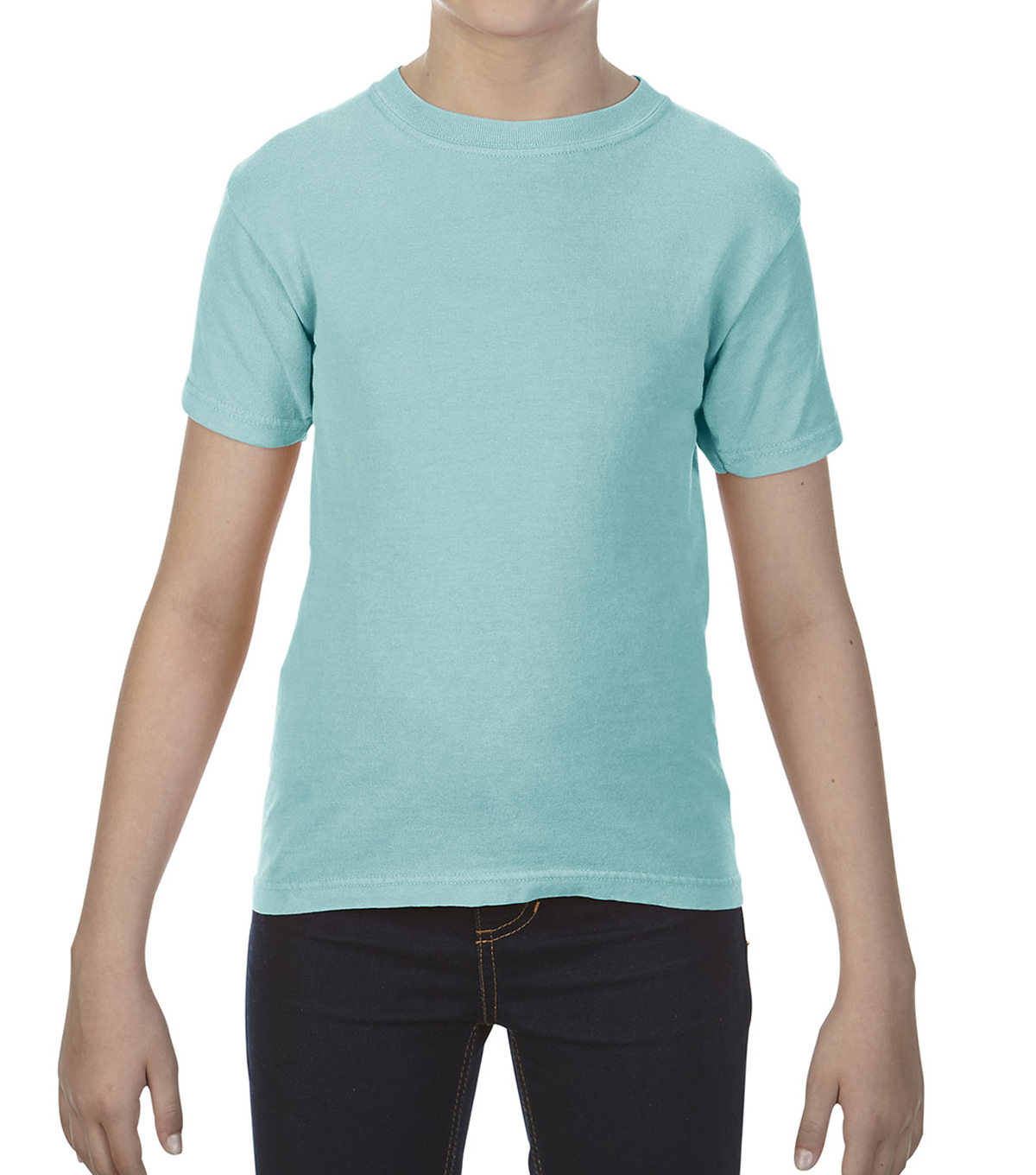 Gildan Comfort Colors 9018 Medium Youth T-Shirt, Chalky Mint