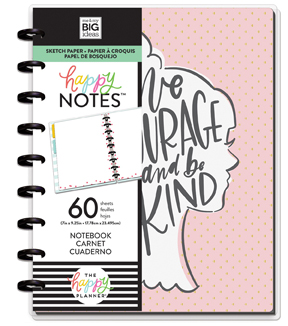 The Happy Planner Medium Notebook with 60 Sheets-Have Courage