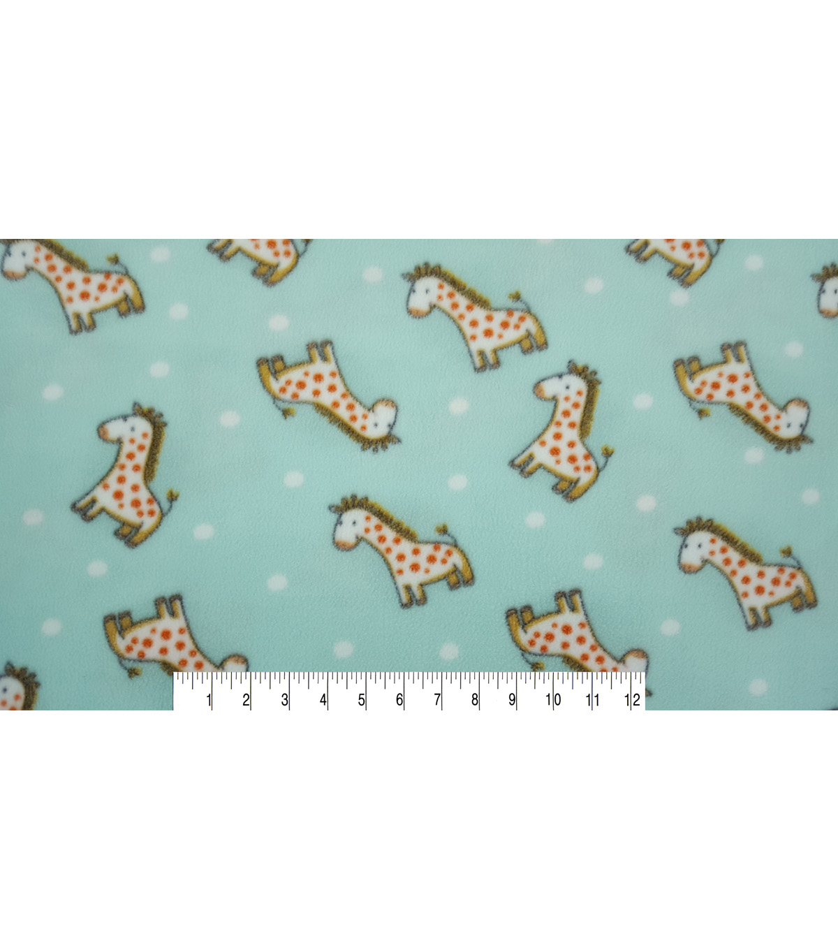 Nursery Fleece Fabric 59\u0022-Safari Giraffe Tossed