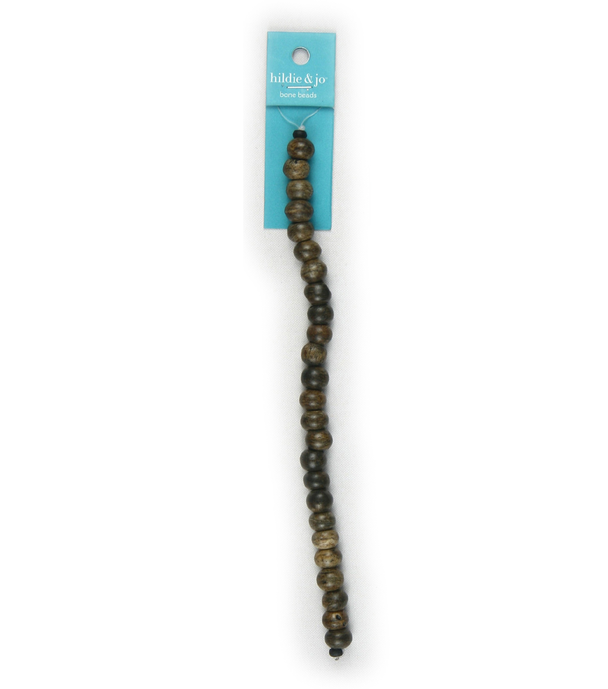 hildie & jo Round Bone Strung Beads-Brown