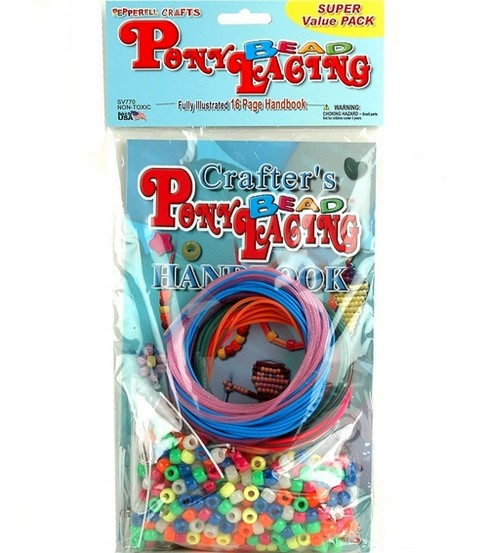 Super Value Pack Pony Bead Lacing & Handbook