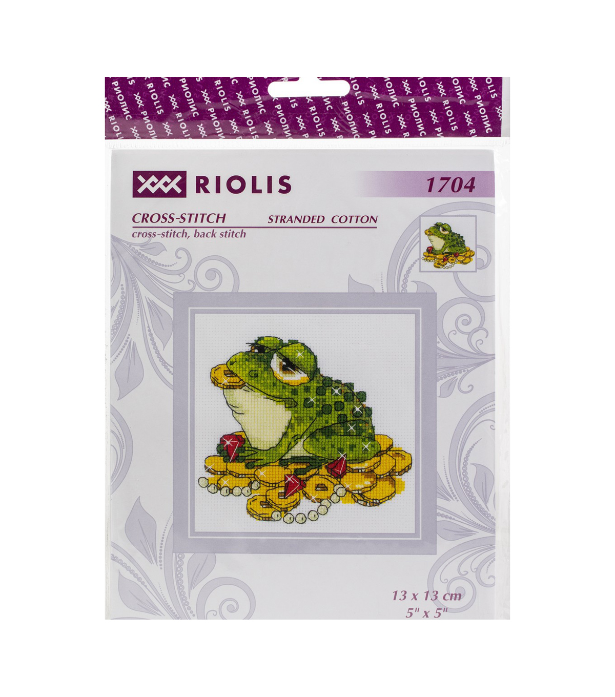 RIOLIS 5\u0027\u0027x5\u0027\u0027 Counted Cross Stitch Kit-For Prosperity